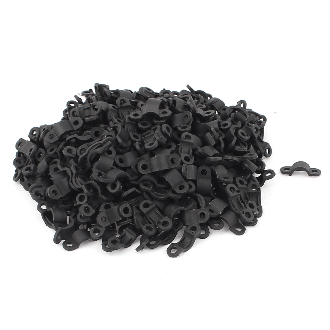 hight resolution of 420 pcs black plastic arc shaped cable clamp wire harness clip fastener
