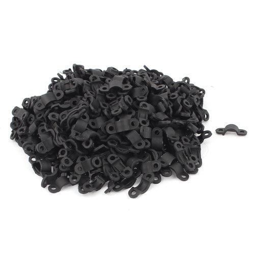 small resolution of 420 pcs black plastic arc shaped cable clamp wire harness clip fastener