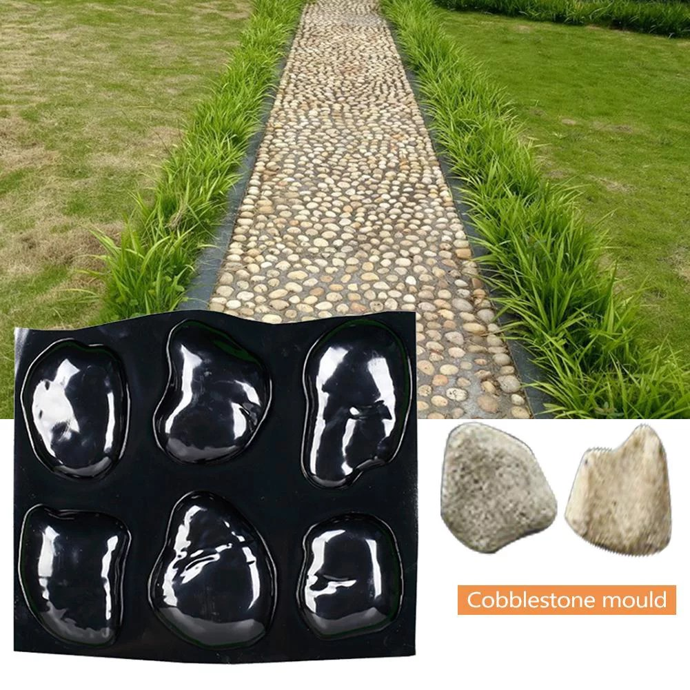 concrete molds river rock stone mould 6 large pebbles mold tray stepping stones mold for garden walkway pathway decoration