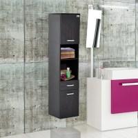 HomCom Floating Wall Mounted Bathroom Storage Cabinet ...