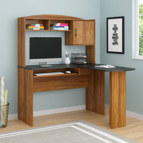Mainstays LShaped Desk with Hutch Multiple Finishes