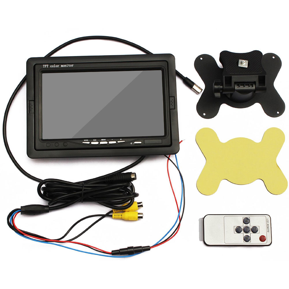 hight resolution of hd waterproof car rear view camera night vision car parking reserving backup camera 7 inch lcd display car monitor tft hd car rearview touch screen mirror