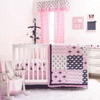 The Peanut Shell 3 Piece Baby Girl Crib Bedding Set - Pink ...
