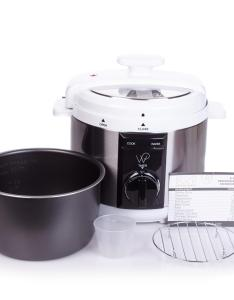 Wolfgang puck qt automatic rapid pressure cooker with recipes walmart also rh