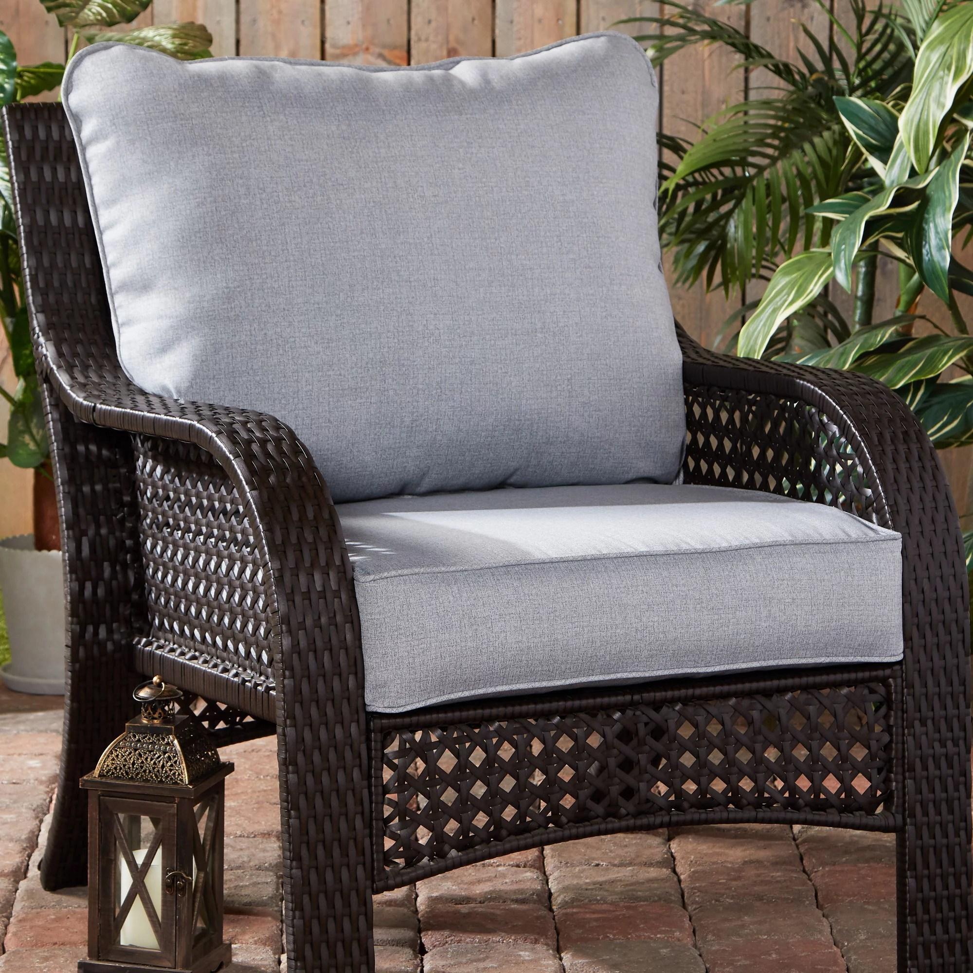 heather gray outdoor 2 pc deep seat cushion set walmart com