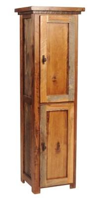 Rustic Wood Linen Closet