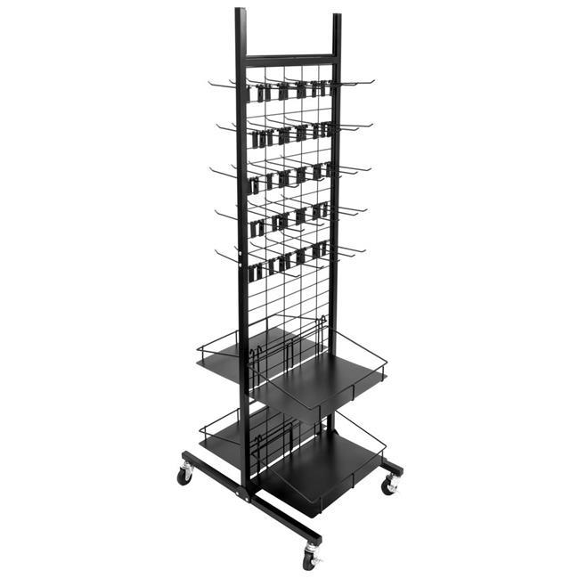 brybelly rfix 001 50 hooks rolling display rack 4 shelves