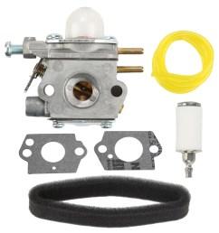 hipa carburetor for bolens bl110 bl160 bl425 craftsman troybilt weedeater replace 753 06190 carburetor air filter tune up kit walmart com [ 1000 x 1000 Pixel ]