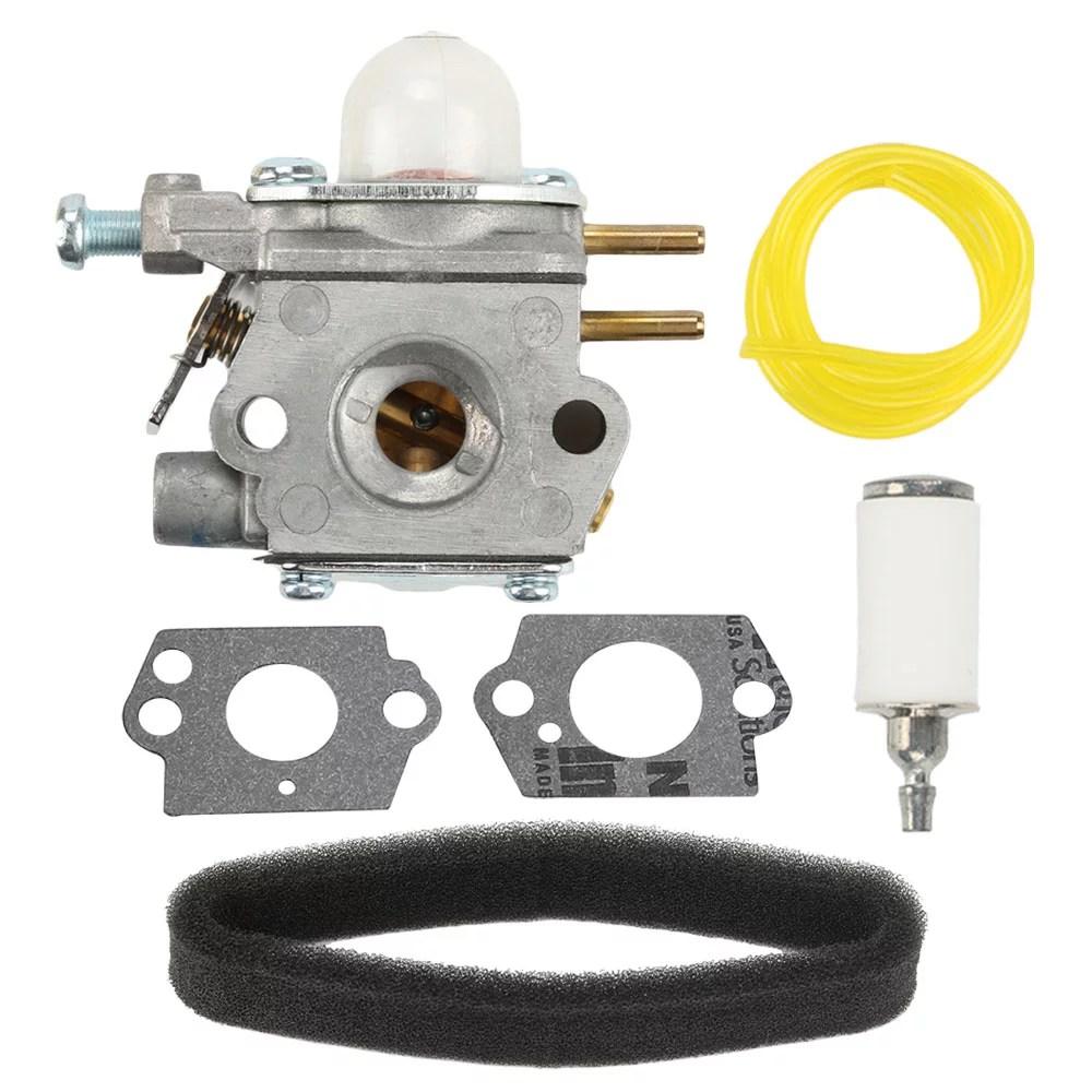 hight resolution of hipa carburetor for bolens bl110 bl160 bl425 craftsman troybilt weedeater replace 753 06190 carburetor air filter tune up kit walmart com
