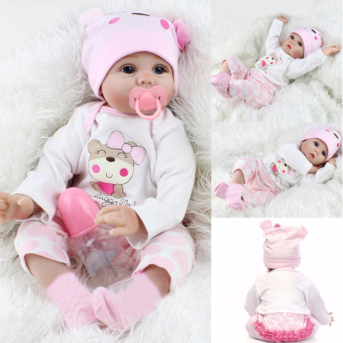 High Quality 22 Realistic Lifelike Realike Alive Newborn Reborn Babies Silicone Vinyl Reborn Baby Girl Dolls Handmade Weighted Alive Doll For Toddler Gifts Walmart Com Walmart Com