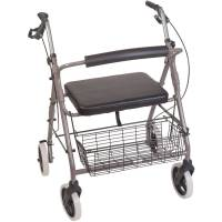 DMI Lightweight Extra-wide Aluminum Rollator Walker with ...