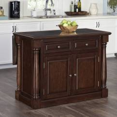 Cherry Kitchen Island Beige Cabinets Home Styles Monarch With Granite Top Walmart Com