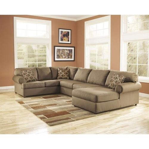 ashley furniture cowan 3 piece sectional sofa in mocha