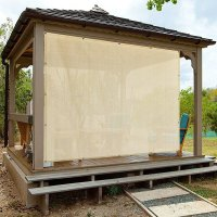 Alion Home Banha Beige Sun Shade Privacy Panel with ...