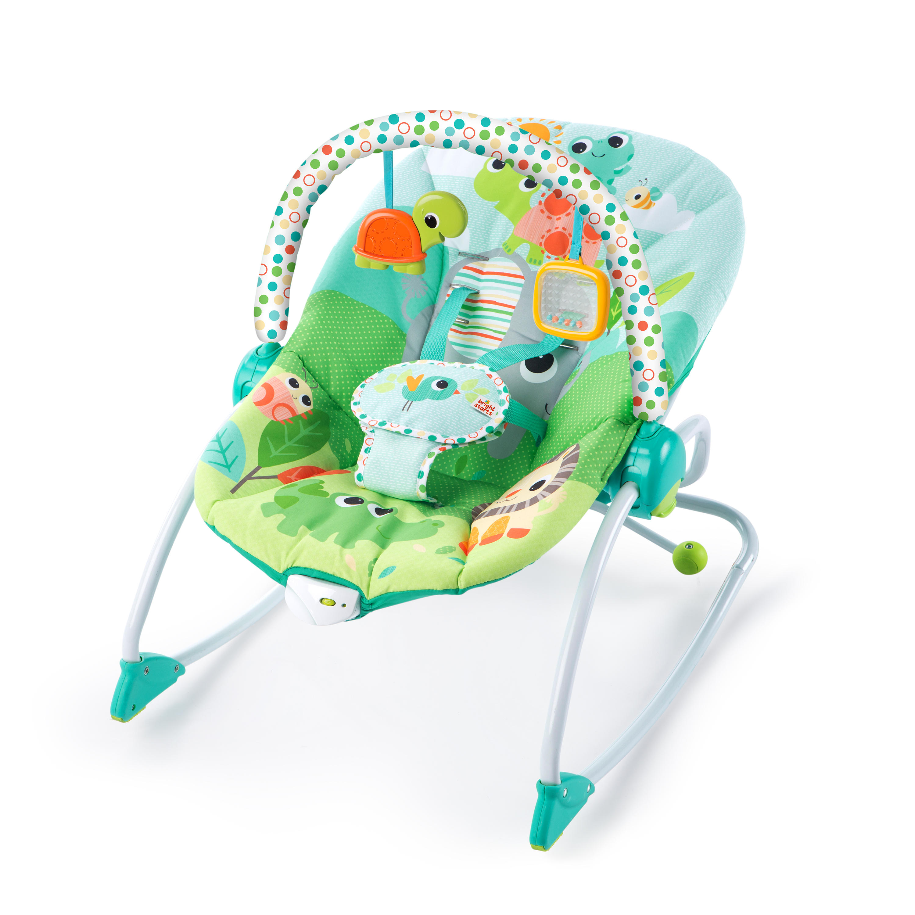 vibrating chair baby stand desk bouncers rockers walmart com product image bright starts infant to toddler rocker seat playful parade