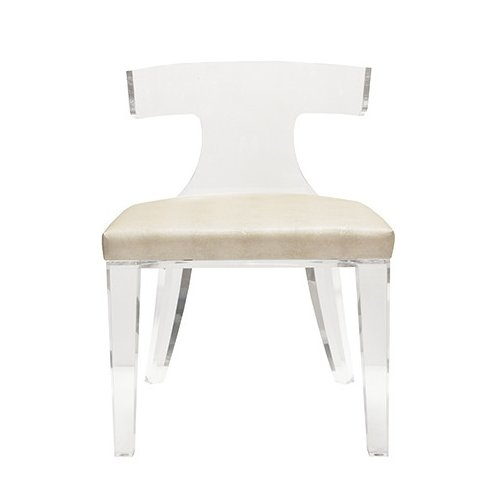 acrylic side chair with cushion covers for sale toronto worlds away klismos walmart com