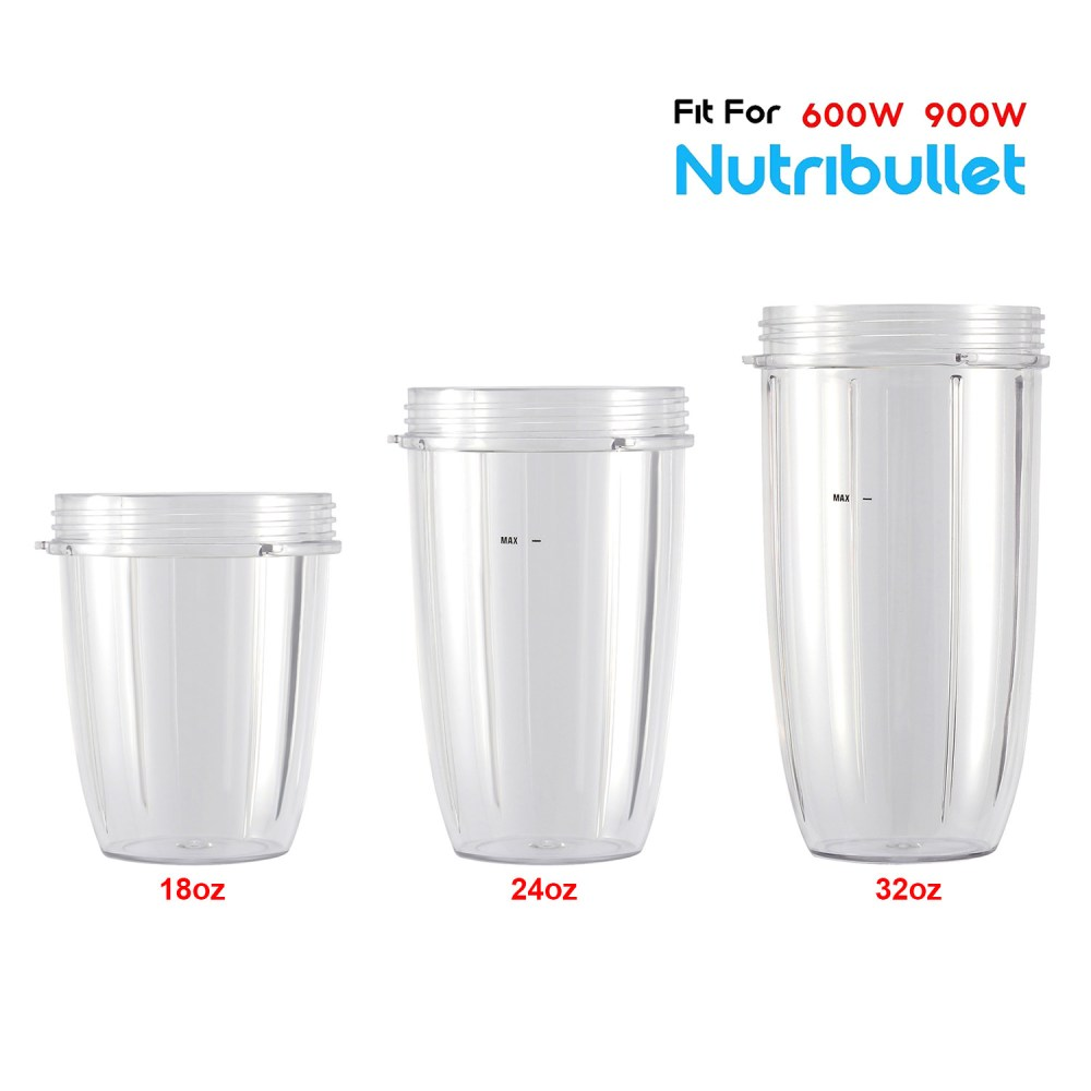 medium resolution of 18oz 24oz replacement cup for nutribullet 600w 900w replacement parts replacement cups for nutri bullet walmart com