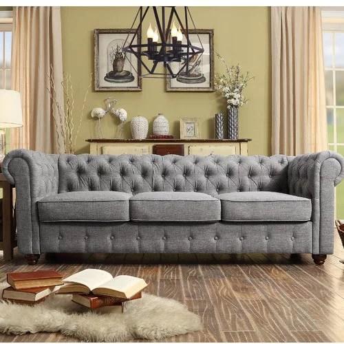 chesterfield sofa material loose back cushion slipcover greyleigh quitaque walmart com