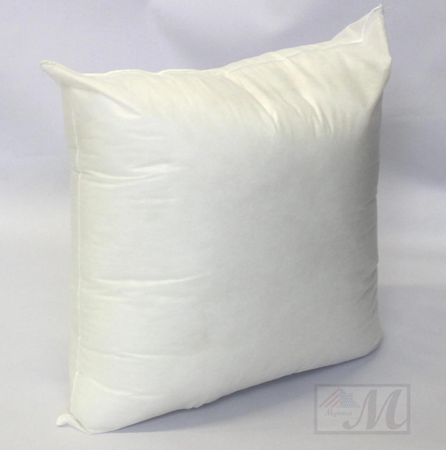 mybecca 18 l x 18 w pillow sham stuffer white square hypoallergenic pillow insert first quality