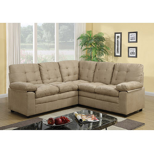 buchanan sofa with chaise how to cover a cushion fabric buchannan microfiber corner sectional taupe walmart com