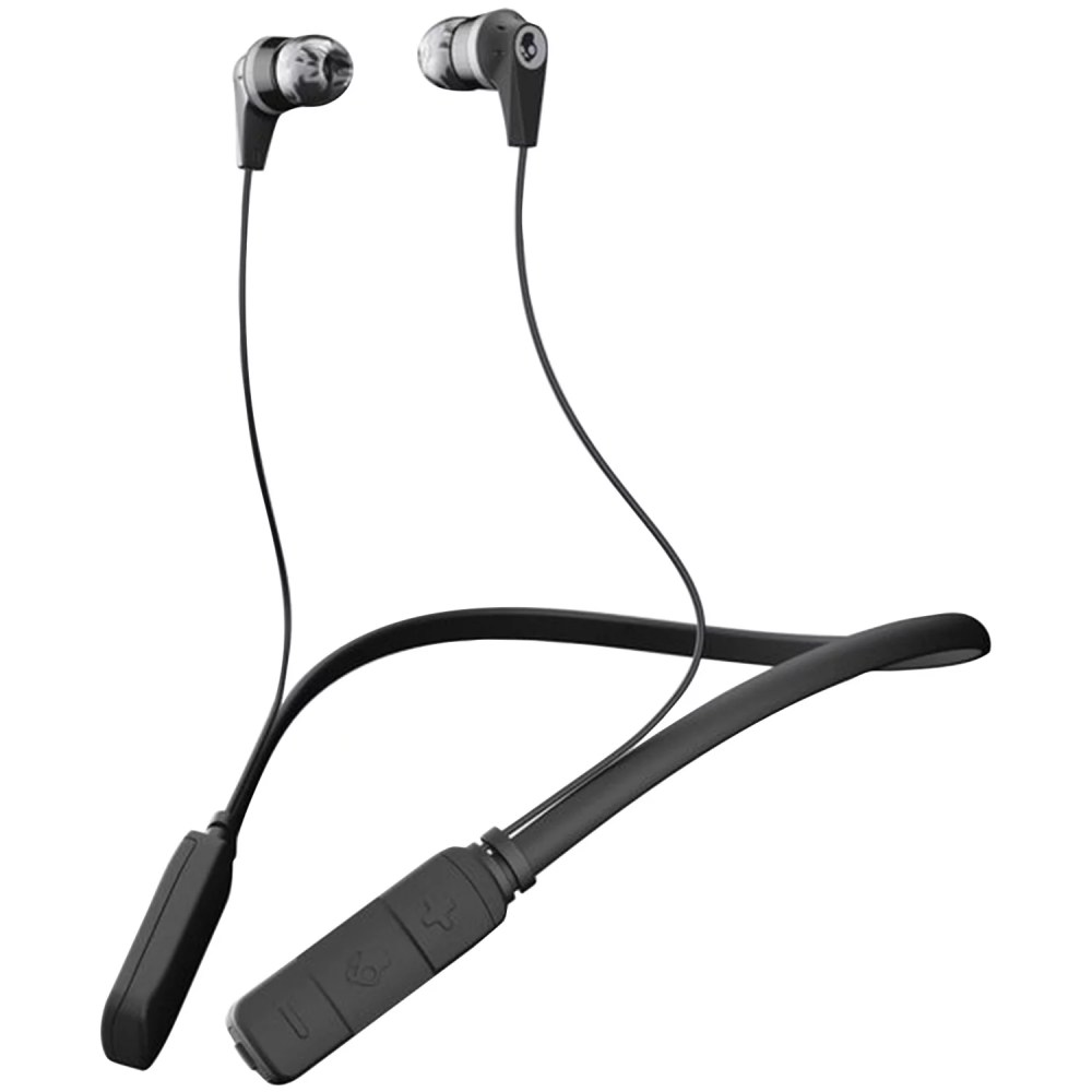 medium resolution of skullcandy s2ikw j509 ink d bluetooth earbuds with microphone black gray