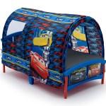 Delta Children Disney Pixar Cars Plastic Toddler Canopy Bed Blue Walmart Com Walmart Com