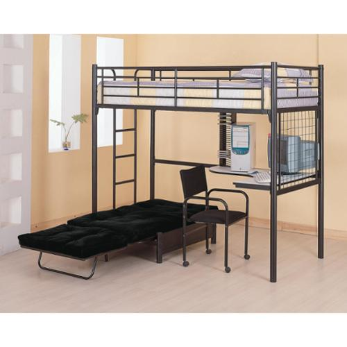 loft bed with desk and futon chair white reclining styling bunks twin bunk walmart com