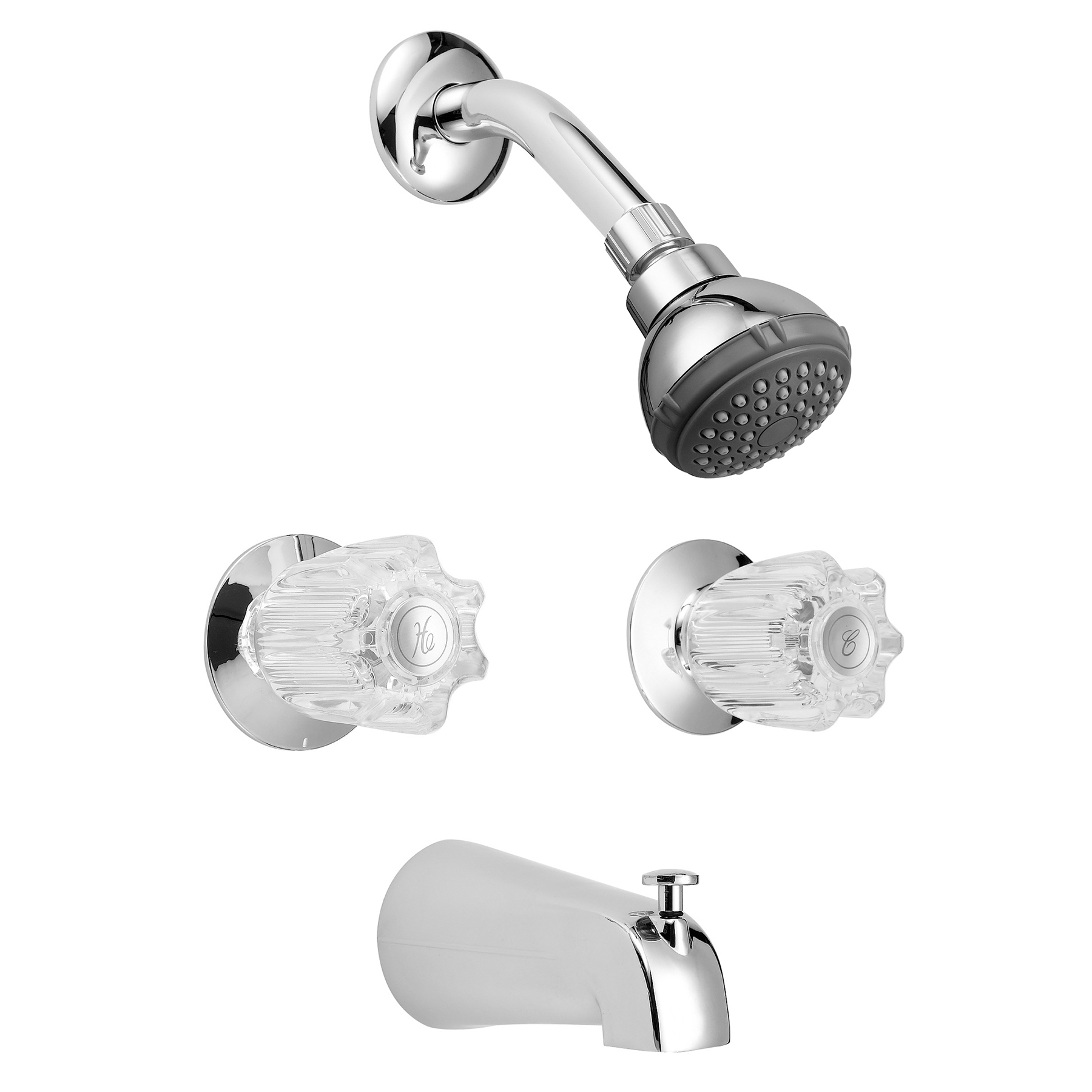 ldr 013 8700cp chrome 2 handle tub shower faucet set