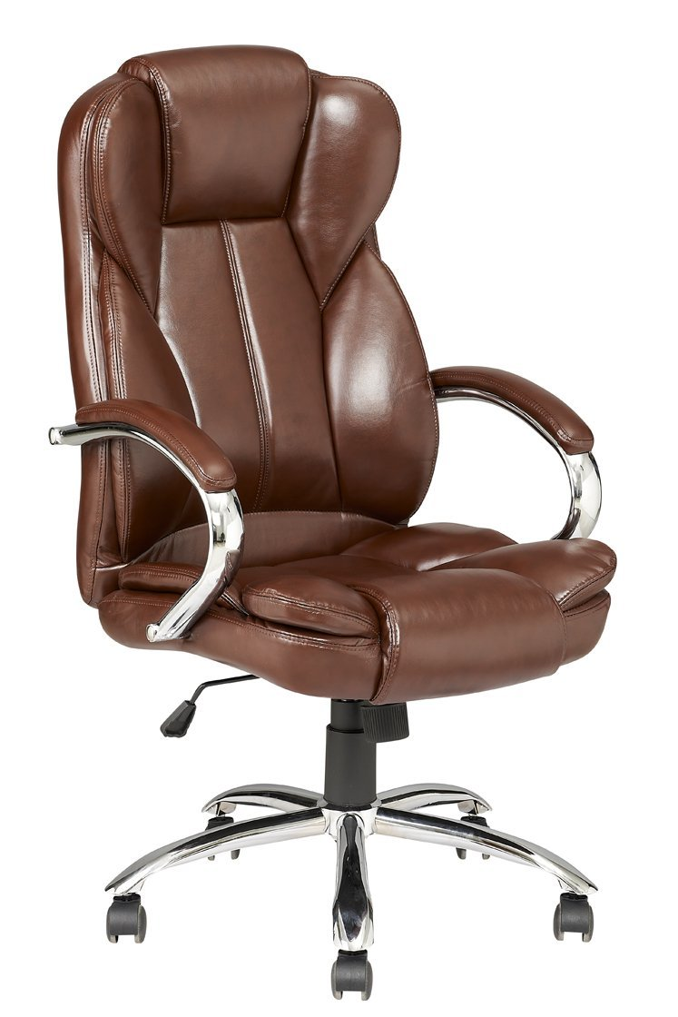 the revolving chair base accent swivel brown modern high back leather executive office desk task computer w metal walmart com