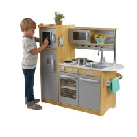 KidKraft Uptown Natural Wooden Play Kitchen - Walmart.com