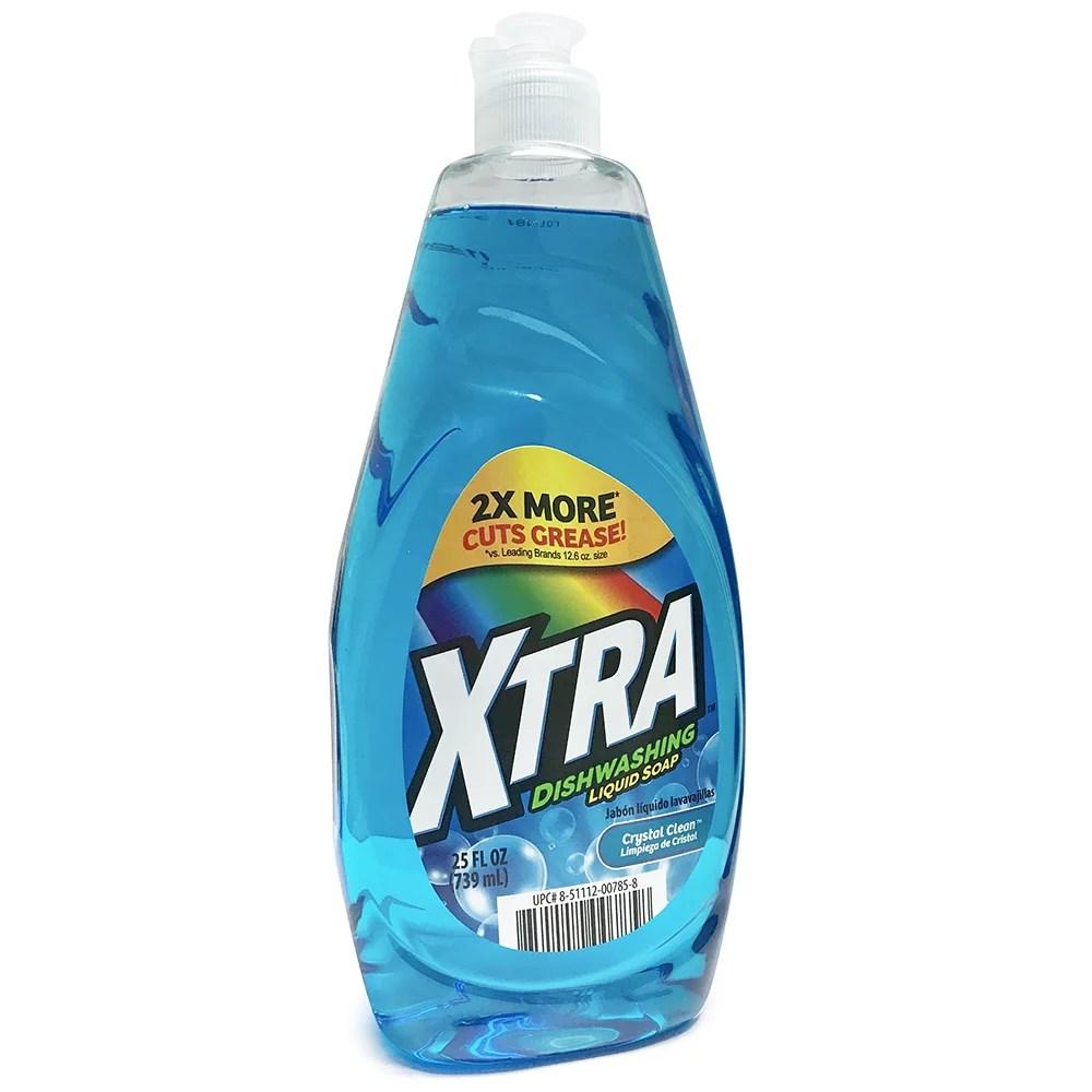 XTRA Dishwashing Liquid Soap Crystal Clean 25 oz