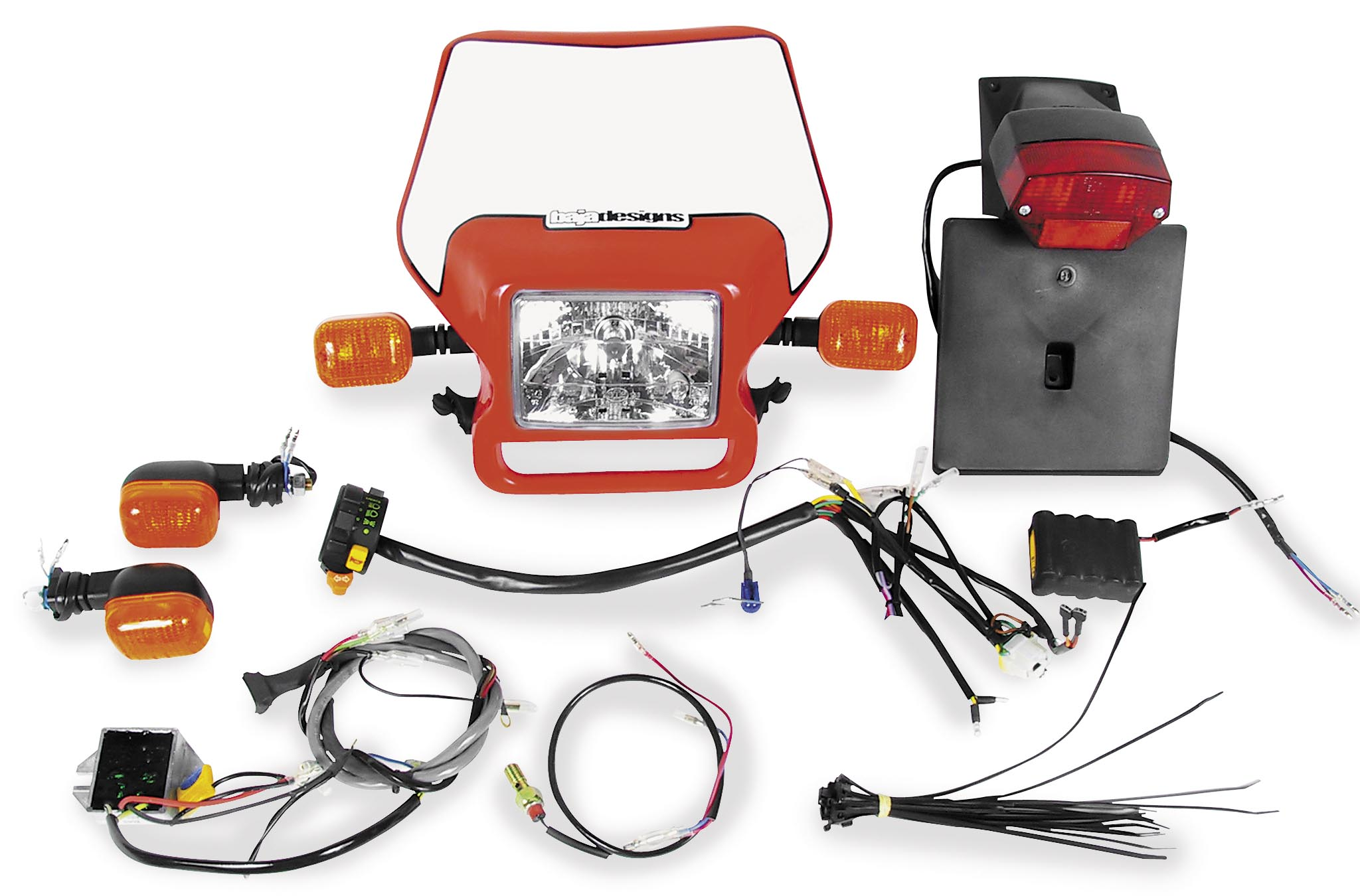 2002 xr650r wiring diagram of single phase motor dual sport harness diagrams thumbs baja designs kit ez mount red 12 1301 rd walmart com