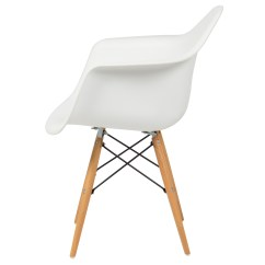 Mid Century Modern Plastic Chairs Hampton Bay Lounge Chair Best Choice Products Eames Style Armchair W Molded Shell White Walmart Com