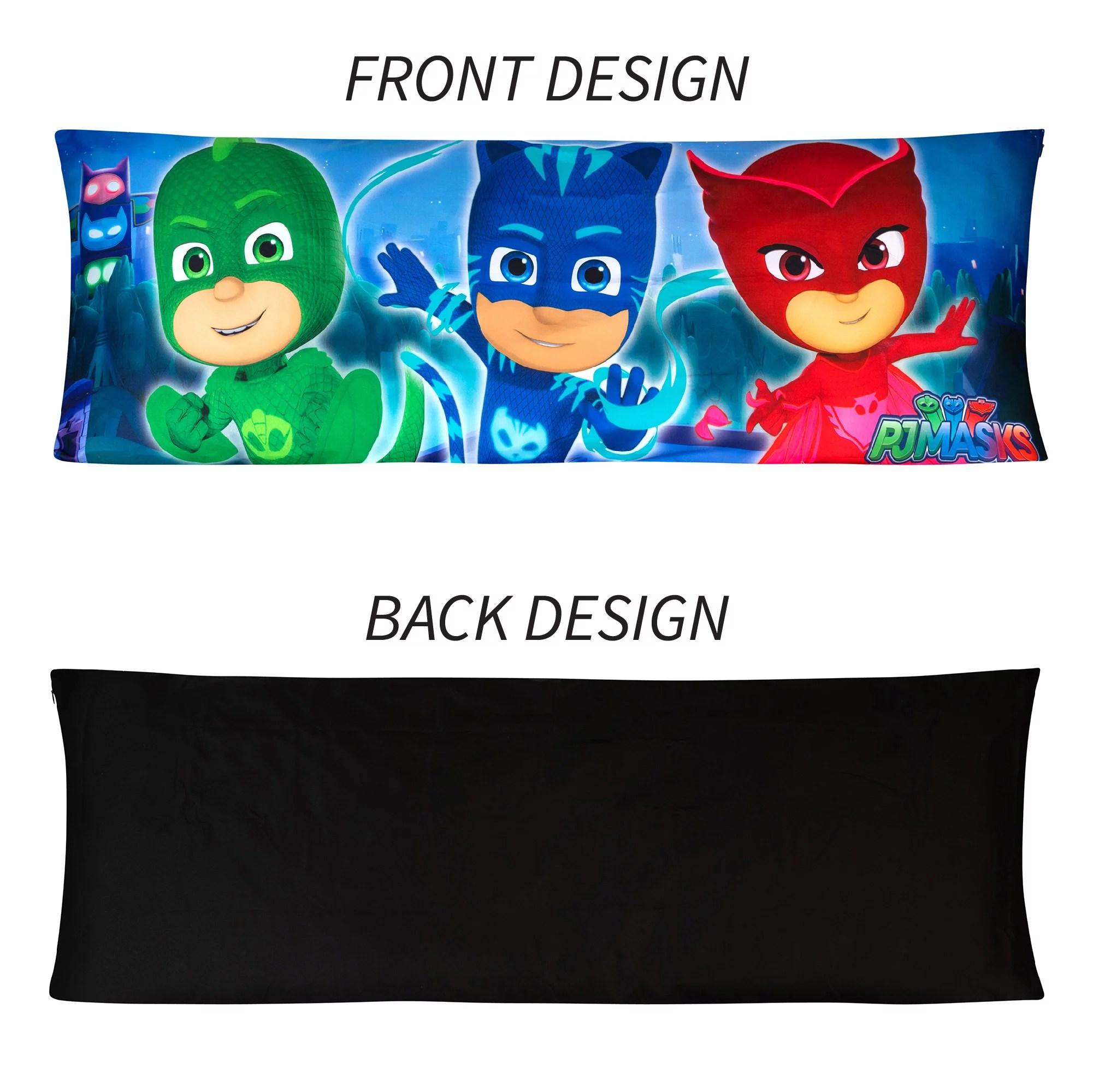 pj masks body pillow cover with zipper kids bedding 20 x54