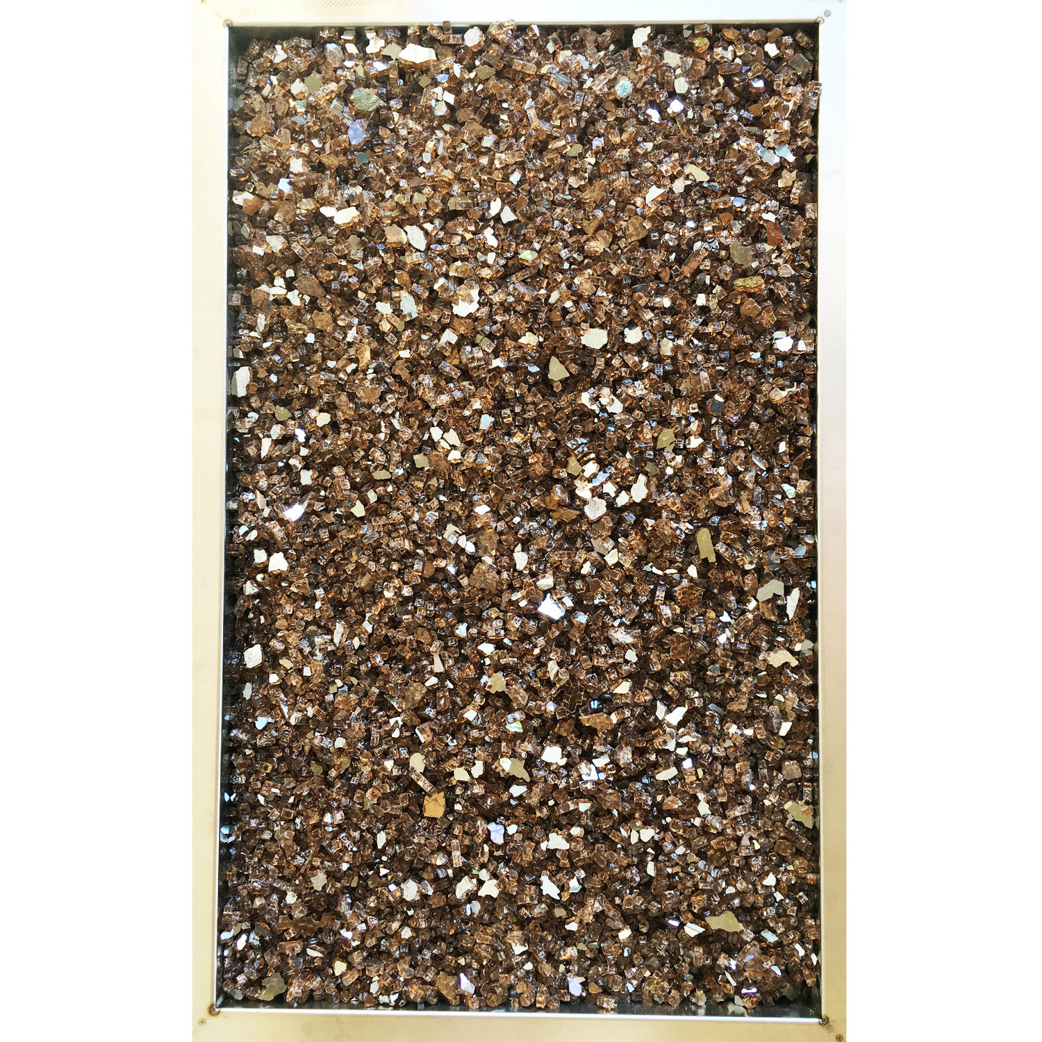 Element Copper Reflective 1 4 Fire Glass 10 Lbs Indoor