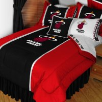 NBA Miami Heat Bedding Set Basketball Bed Twin