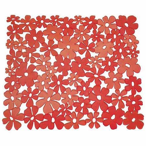interdesign blumz 11 x 12 kitchen sink protector mat red