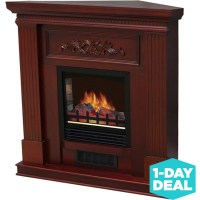 "Electric Fireplace with 38"" Mantle Dark Cherry 