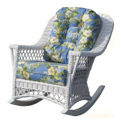 Wicker Rocking Chairs Upholstered Dining Chair With Acrylic Legs Yesteryear Childs Cushion Walmart Com