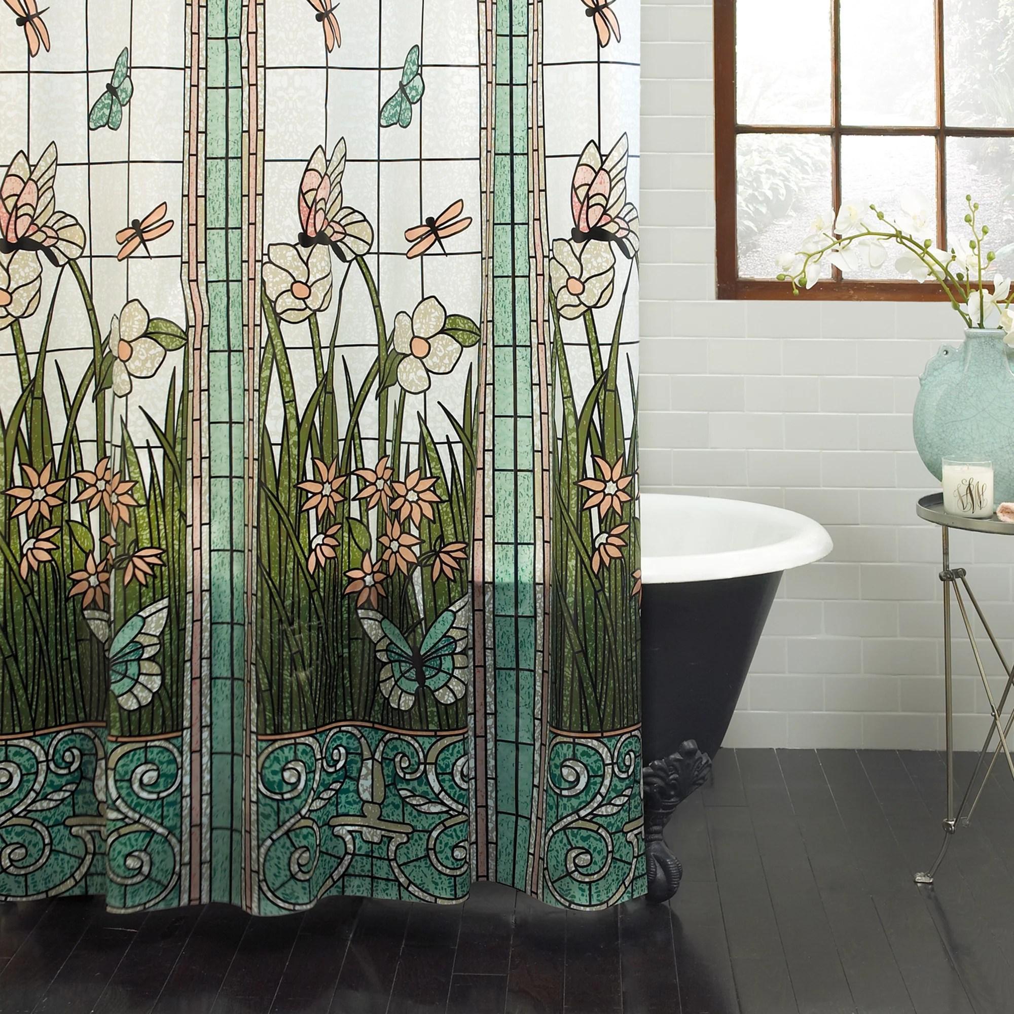 mainstays stain glass peva shower curtain 70 x 71 walmart com