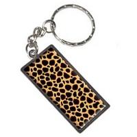 Cheetah Print Keychain Key Chain Ring - Walmart.com