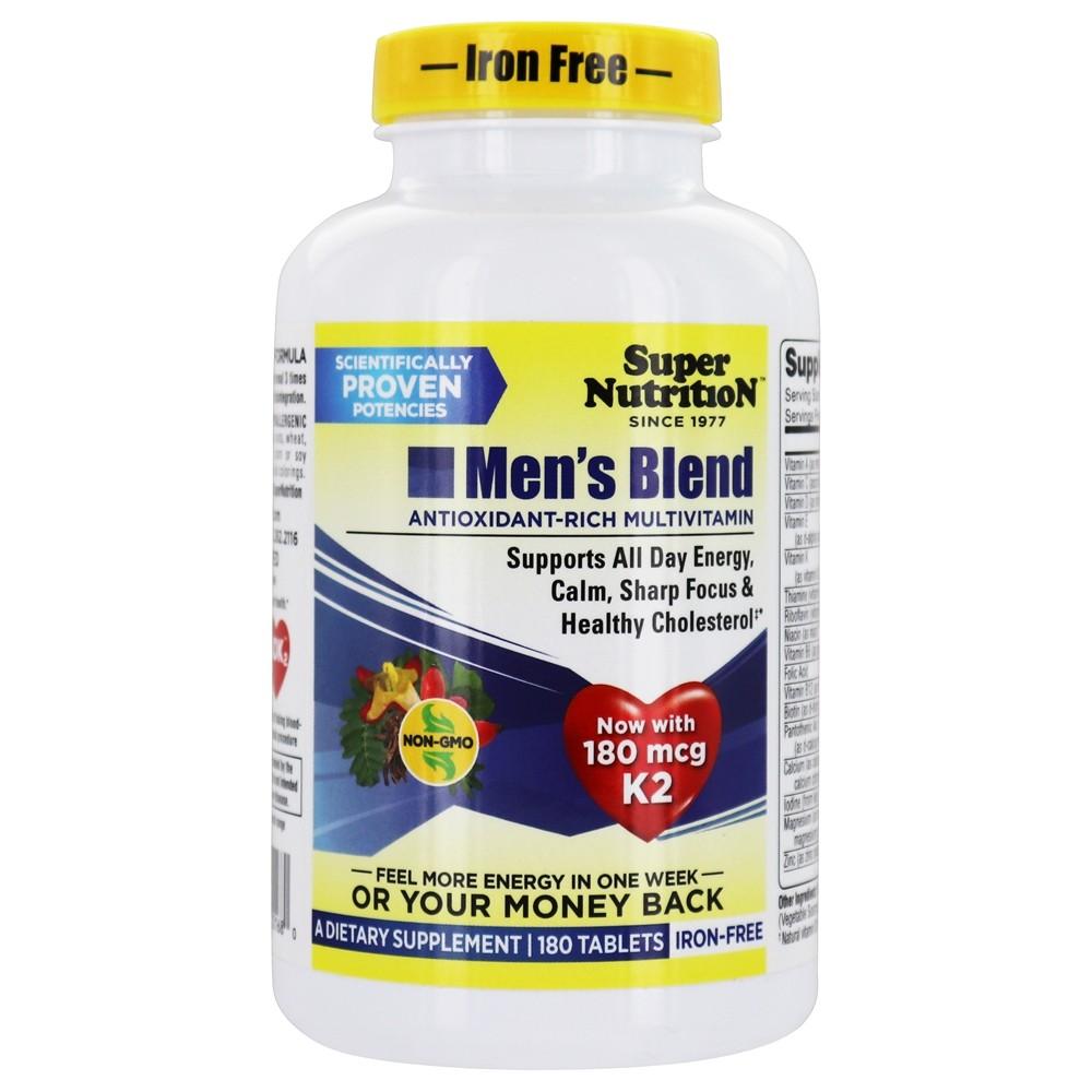 Super Nutrition - Men's Blend MultiVitamin Iron Free - 180 ...