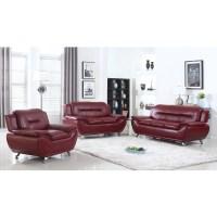 Burgundy Sofa Set Leather Sofas Living Room Burgundy ...