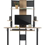 Calico Designs Corner Computer Desk With Tower Ashwood Finish Walmart Com Walmart Com
