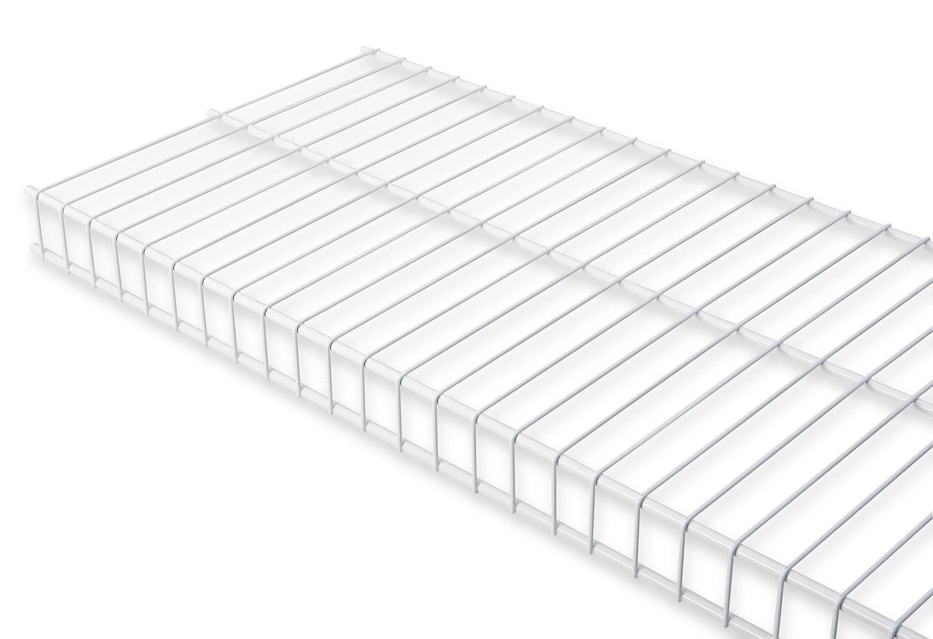 Rubbermaid Fg3n Wht 6 X 12 White Linen Wire Shelf