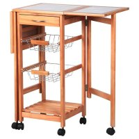 Ktaxon Rolling Portable Kitchen Island Storage Drawers ...