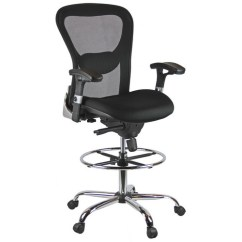 Mesh Drafting Chair Metal Chairs With Wood Seat Harwick Furniture High Back Walmart Com