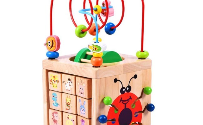 Kids Gift Bead Maze Activity Cube For 1 Year Old Around