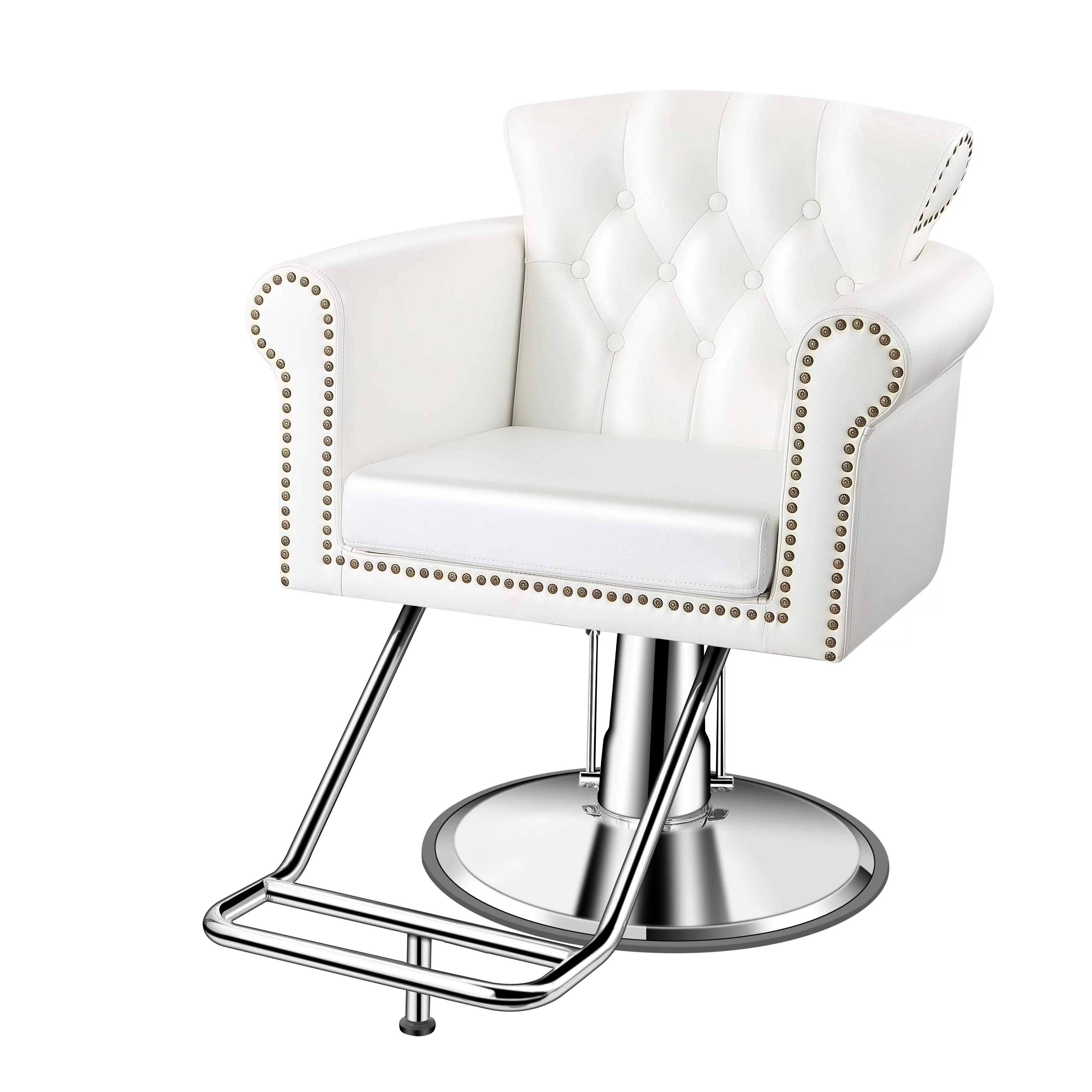 baasha luxury white salon chairs