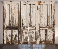 Rustic Curtains 2 Panels Set, Vintage House Entrance with ...